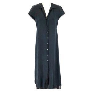 Banana Republic long silk black dress